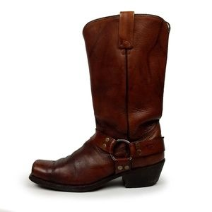 Texas Brown Leather Western Boots Mens 9.5D